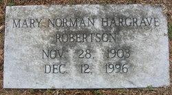 Mary Norman Happy <i>Hargrave</i> Robertson