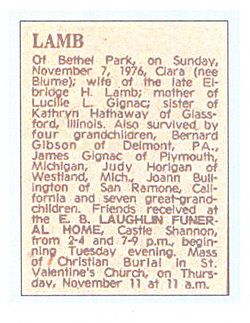 Clara B <i>Blume</i> Lamb
