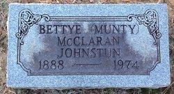 Bettye Munty <i>McClaran</i> Johnston