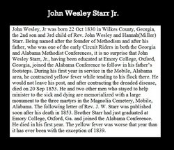 Rev John Welsey Starr, Jr