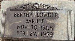 Bertha Louise <i>Lowder</i> Barbee