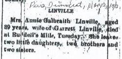 Annie <i>Galbraith</i> Linville