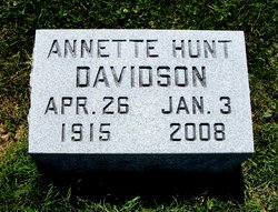 Annette H. <i>Hunt</i> Davidson