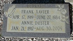 Annie Louise <i>Doster</i> Burkart