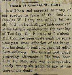 Charles William Lahr