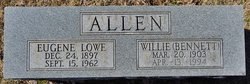 Willie Irene <i>Bennett</i> Allen