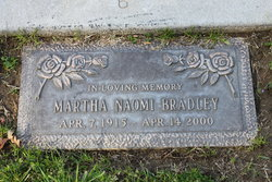 Mrs Martha Naomi <i>Vavak</i> Bradley