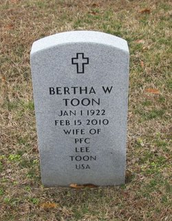 Bertha W Toon