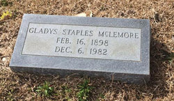 Gladys <i>Staples</i> McLemore