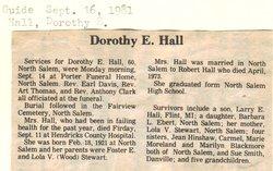 Dorothy E <i>Stewart</i> Hall