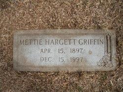 Mettie <i>Hargett</i> Griffin