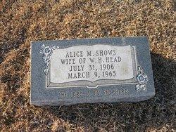 Alice M <i>Shows</i> Head
