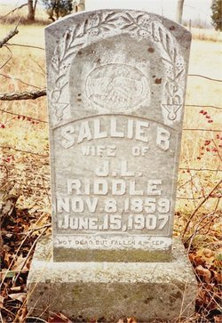 Sallie <i>Braun</i> Riddle