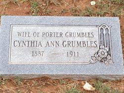 Cynthia Ann <i>Huffstetler</i> Grumbles
