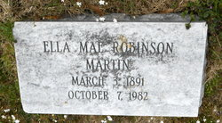 Ella Mae <i>Robinson</i> Martin