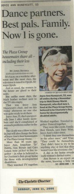 Joyce Ann Huneycutt
