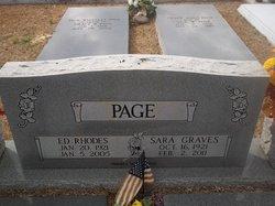 Sara <i>Graves</i> Page