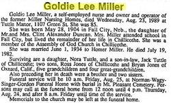 Golda Lee Goldie <i>Duncan</i> Miller