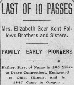 Elizabeth <i>Geer</i> Kent