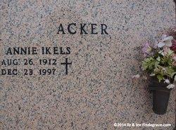Annie Sophie <i>Ikels</i> Acker