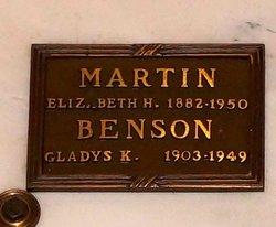 Gladys K <i>Martin</i> Benson