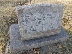 Anna K <i>York</i> Orrell