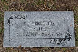 E Beatrice <i>Butler</i> Etier