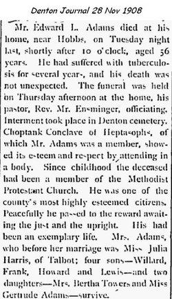 Edward Liden Adams