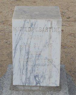 Matilda K Bartine