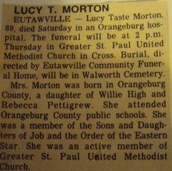 Lucy <i>Taste</i> Morton