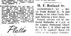 Melvin E. Rutland
