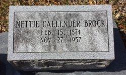 Nettie <i>Callender</i> Brock