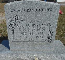 Lulu <i>Christian</i> Abrams