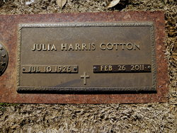 Julia Elizabeth <i>Harris</i> Cotton