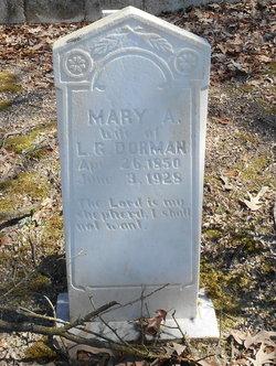Mary A <i>Pope</i> Dorman