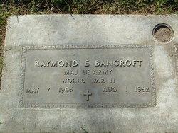 Raymond Elwood Bancroft