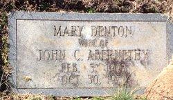 Mary <i>Denton</i> Abernathy