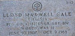 PFC Lloyd Maxwell Cale