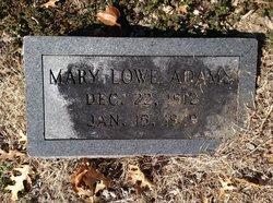 Mary <i>Lowe</i> Adams