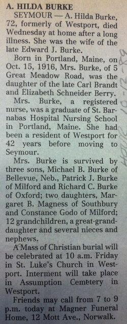 Alma Hilda <i>Brandt</i> Burke