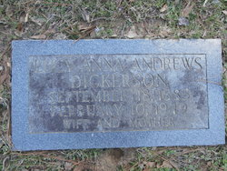 Lucy Anna <i>Andrews</i> Dickerson