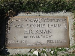 Mae Sophia <i>Soucie</i> Hickman