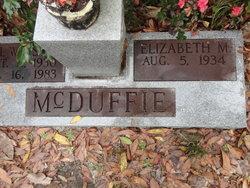 Elizabeth M McDuffie