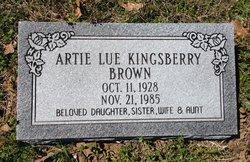 Artie Lou <i>Kingsberry</i> Brown