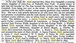 Mary <i>Fox</i> Abell