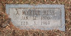 Anna Myrtle Myrtle <i>Gonder</i> Hess