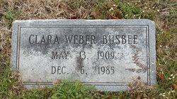 Clara <i>Weber</i> Busbee