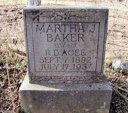 Martha J. <i>Baker</i> Agee