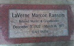 LaVerne May <i>Marcoe</i> Ransom Clevenger