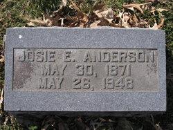 Josephine Elizabeth Josie <i>Henegar</i> Anderson